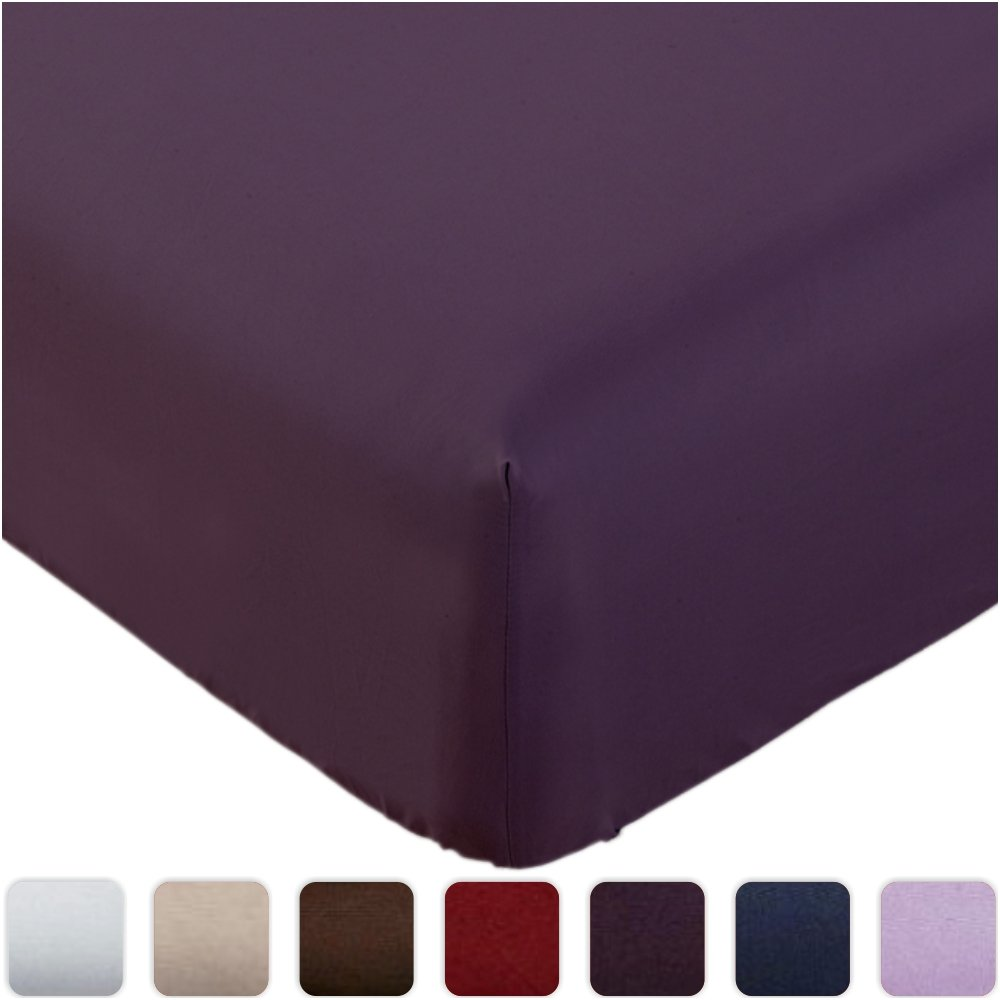 Fitted Sheet Queen Purple Brushed Microfibe4