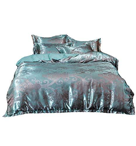 MTkxsy 春と夏の4ピースベッドルームセット、無地の4ピースベッドギフト、快適で丈夫なベッドルームの4ピースセット (Color : ブルー, Size : S) B07PV7S5HX ブルー Small