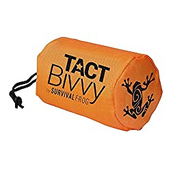Tact Bivvy Emergency Survival Compact Sleeping Bag - Lightweight, Waterproof Bivy Sack Emergency Blanket With Heatecho Thermal Space Blanket Material, Use In Survival Kit, Camping Gear & Survival Gear