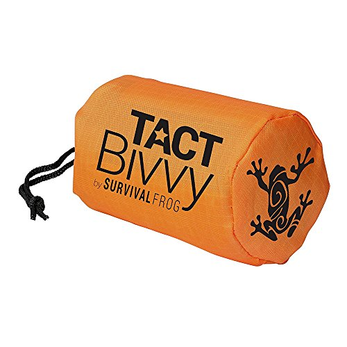 - Tact Bivvy Compact Ultra Lightweight Sleeping Bag - 100% Waterproof Ultralight Thermal Bivy Sack Cover, Emergency Space Blanket Liner Bags for Emergency Shelter, Tent Camping & Survival Gear Kit