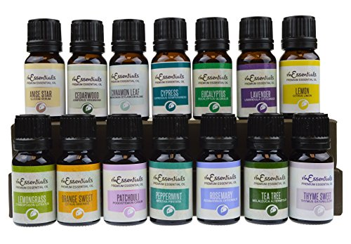 Top 15 Essential Oil Starter Set Singles Gift Pack 100% Pure Therapeutic Grade Essential Oils - Great for (Essential Oil Sampler Pack)