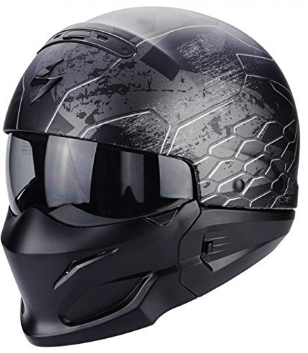 Scorpion - Cascos de moto - Scorpion Exo Combat Ratnik, color negro mate: Amazon.es: Coche y moto