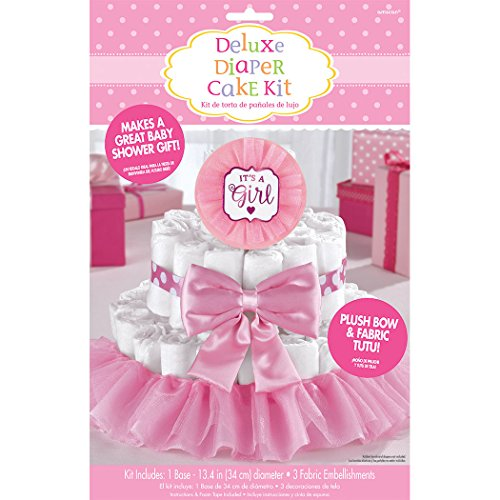 Amscan Baby Shower Deluxe Diaper Cake Dec. Kit - Girl ()