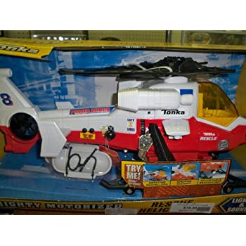 Tonka Mighty Motorized Rescue Helicopter with Lights & Sounds (RED)