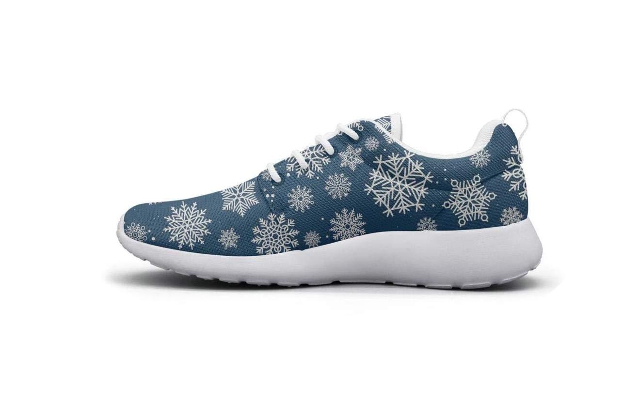 XULANG Trendy Sneaker Christmas Snowflakes Image Walking Shoes for Mans