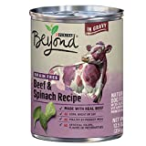 Purina Beyond Grain Free Natural, Beef & Spinach Recipe in Gravy Canned Dog Food, 12.5 oz, case of 12 For Sale