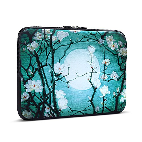 iCasso 13-Inch Stylish Soft Neoprene Sleeve Case Cover Bag For Macbook Air/Pro/Retina 13 Inch/2016 New Retina 13 Inch (Cherry Blossom)