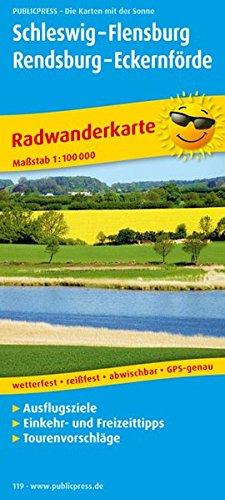Schleswig - Flensburg - Rendsburg - Eckernförde: Radkarte mit Ausflugszielen, Einkehr- & Freizeittipps, wetterfest, reissfest, abwischbar, GPS-genau. 1:100000 (Radkarte / RK)