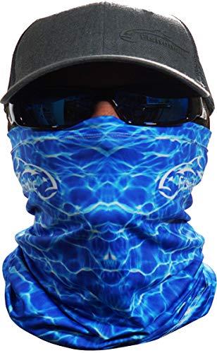 Fishoholic Neck Gaiter UPF50+ Fishing Face Mask Bandana Sun Wind Dust Protection Shield UV UPF 50 Headwear Balaclava Magic Scarf for Men Women Hunting Cycling Run Fish Hiking Paddling Canoe Kayak Bass