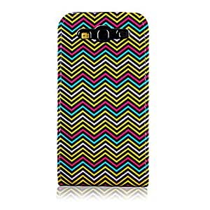 National Style Colorful Wave Line Pattern PU Leather Full Body Case for Samsung Galaxy S3 I9300