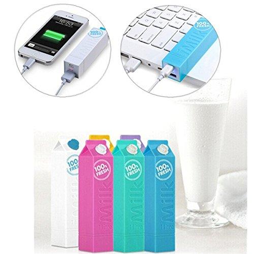 2600mAh Milk Power Bank Portable Battery For Mobile Phone