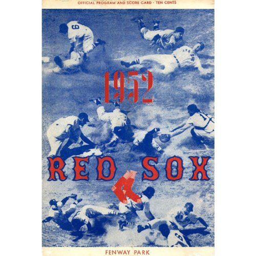 Boston Sox Red 1952 - 1952 Boston Red Sox Unsigned Official Program and Score Card