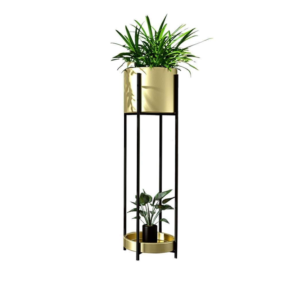 gold 85cm×23cm Metal Plant Display Stand, Pot Rack, Bonsai Display Stand, Multi-Functional Storage, Decorative Frame, Indoor Outdoor Courtyard Garden Terrace Balcony Frame (color   White, Size   85cm×23cm)