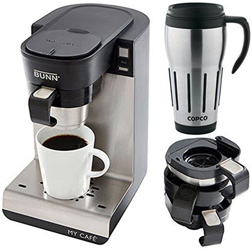 Bunn My Cafe Multi-Use Single Cup Coffee Brewer w/ 24oz. Big Joe Thermal Mug
