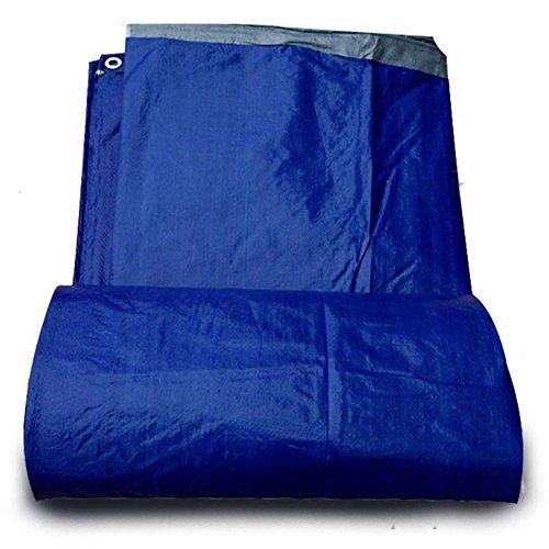 NANIH Home Zelt im Freien verdicktes regenfestes Tuch Sonnenschutz Sonnenschutz Autoplanenhochtemperatur-Anti-Aging-Blau (Farbe   Blau, Größe   4×6m)