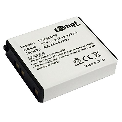 MPF Products 900mAh FT703437PP, FT803437PA, LP083442A, RZ03-00120100-0000, RZ30-00120300-0000 Battery Replacement Compatible with RAZER Mamba & Naga Epic Wireless Gaming Mouse (Naga Gaming Mouse Wireless)