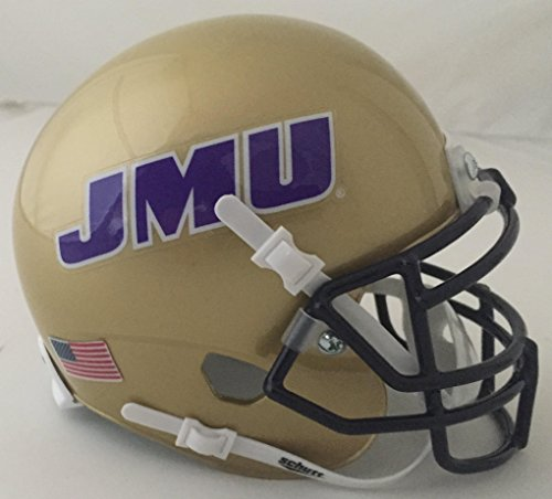 Schutt NCAA Mini Authentic XP Football Helmet, James Madison Dukes