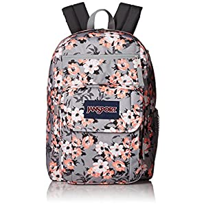JanSport Digital Student 38L Backpack Coral Sparkle Pretty Posey, One Size