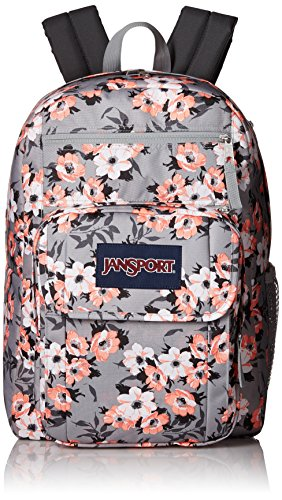 JanSport Digital Student Laptop Backpack- Sale Colors (Coral Sparkle