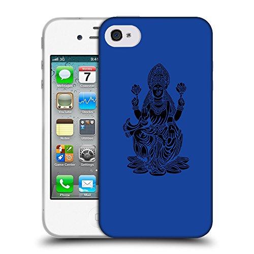 GoGoMobile Coque de Protection TPU Silicone Case pour // Q08110613 Hindou 2 Bleu // Apple iPhone 4 4S 4G
