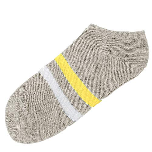 Haluoo Low Cut Socks, Women Girls Low Cut No Show Casual Cotton Socks Striped Pattern Women's No Show Liner Socks Sport Athletic Socks Ankle Socks Short Socks (Gray)