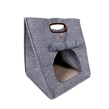 Amazon.com : eDealMax 3 en 1 multifuncional portátil monedero viaje Bolsa del Animal doméstico del perrito de la casa de perro cómoda cama del gato DOGLEMI ...