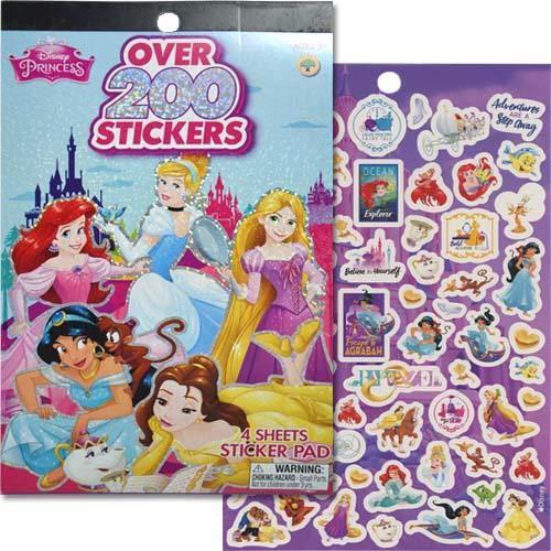- UPD Disney Princess Sticker Pad 200 + Stickers