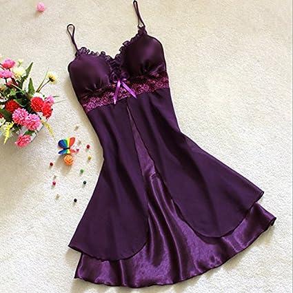 Digital baby Womens Sexy Lace Nightgowns,faux silk Spaghetti Straps pijamas mujer Summer Sleepwear Sleepshirts