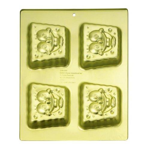 Wilton SpongeBob Square Pants Mini Cupcake Cookie Treats Brownie Cake Pan Mold ~ 4 Cavity (2105-5131, 2003) ()