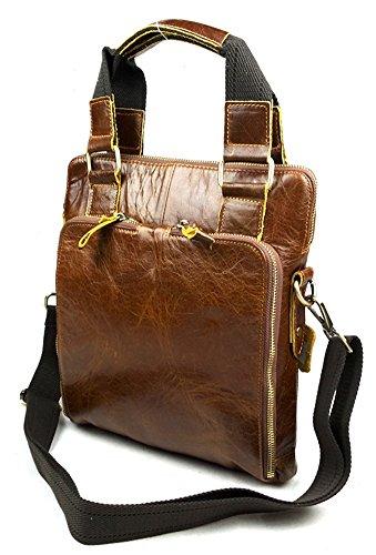 insum Tote Business Bag de piel para hombre Marrón - Yellowish Brown