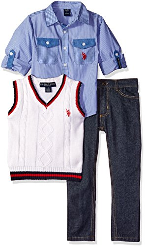 U.S. Polo Assn. Little Boys' Long Sleeve Fancy Sport Shir...