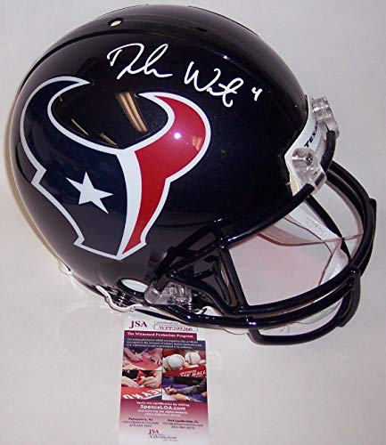 - DeShaun Watson - Autographed Official Full Size Riddell Authentic Proline Football Helmet - Houston Texans - JSA