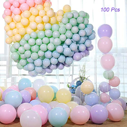 100pcs Pastel Latex Balloons, Ztent 10 Inches Assorted Macaron Candy Colored Balloons for Birthday Wedding Engagement Baby Shower Party Supplies Arch Balloon Garland