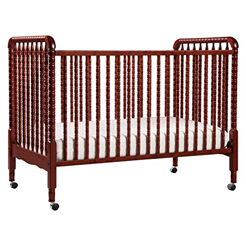 DaVinci Jenny Lind 3-in-1 Convertible Portable Crib in Rich Cherry - 4 Adjustable Mattress Positions, Greenguard Gold