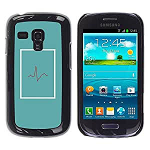 Paccase / SLIM PC / Aliminium Casa Carcasa Funda Case Cover para - Doctor Beat Teal Er Life Minimalist - Samsung Galaxy S3 MINI NOT REGULAR! I8190 I8190N