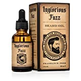 Beard Oil By Inglorious Fuzz- Pure Organic Golden Jojoba Oil & Argan Oil- Beard Hair Skin Conditioner- Relief From Itchy & Dry Beard- Fragrance Free - Better Beards for Better Men