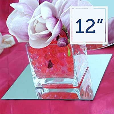 "8 pcs x Square 12"" Glass MIRROR Wedding Centerpieces"