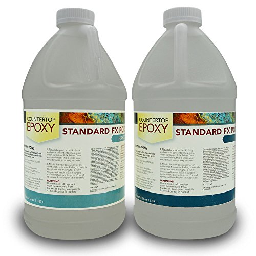 X Poxy - UV Resistant Resin - 1 Gallon (Ultra Clear, 20-25 sq ft) ()