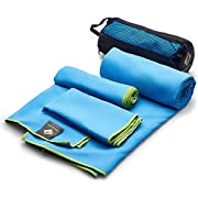 OlimpiaFit Microfiber Towels – Quick Dry 3 Size Pack (51inx31in, 30inx15in, 15inx15in) Camping, Sports, Beach…