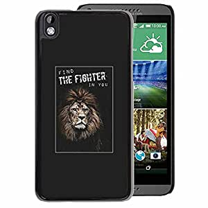A-type Arte & diseño plástico duro Fundas Cover Cubre Hard Case Cover para HTC DESIRE 816 (Fighter Boxing Champion Lion Poster You)