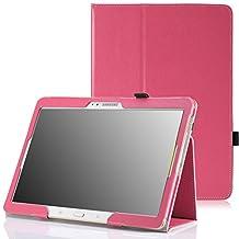 MoKo Samsung Galaxy Tab S 10.5 Case - Slim Folding Cover Case for Samsung Galaxy Tab S 10.5 Inch Android Tablet, MAGENTA (With Smart Cover Auto Wake / Sleep)