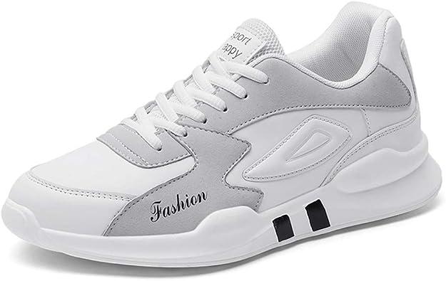 Zapatillas de Deporte para Hombre Zapatillas Deportivas Impermeables de Colores Mezclados con Cordones Tendencia Zapatillas para Caminar para Hombre: Amazon.es: Zapatos y complementos