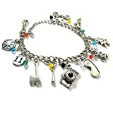 Silver Bracelet for Girls Women - Bob, Dustin, Chief Hopper Eleven Costume Merchandise Erica, Lucas, Barb Gifts