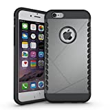 Iphone 6s Plus Case, Iphone 6 Plus Case, Sean [Super Shield] Dual Layer Hybrid Shockproof Armor Defender Case for Iphone 6s Plus / Iphone 6 plus (5.5 Inch)+ 1 Pcs S-smile Stylus (Gray)