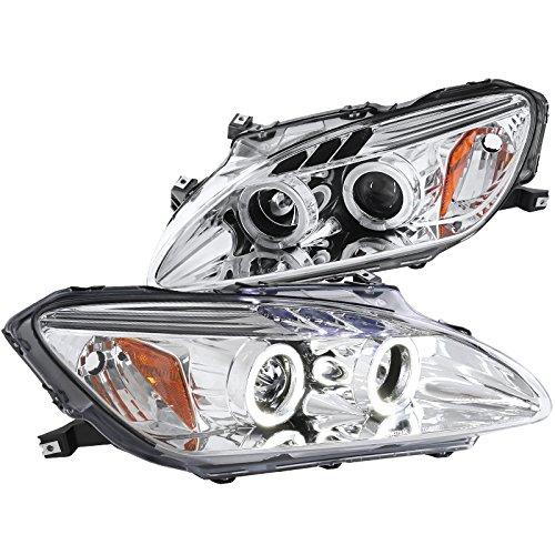 Spec-D Tuning 2LHP-S2K00-TM Honda S2000 Halo Led Chrome Clear Projector Head Lights