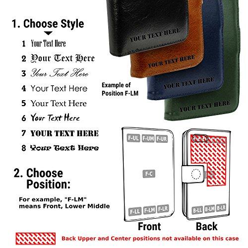 Alston Craig Personalisierte (z.B Ihr Name, andere Name, Inschrift) Alston Craig Tec E-scape Echtleder Geldbörse und hülle Portemonnaie einem im Vintage Look, mit magnetischer Halterung und (RFID-Ausl