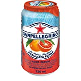 San Pellegrino Sparkling Fruit Beverages, Aranciata Rossa/Blood Orange, 330ml Cans (Pack of 24)