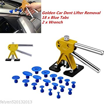 Elikliv Car Body Dent Repair Tools Dent Removal Puller With 18 Tabs Strong Suction Cup Paint Dent Repair Lifter Tool