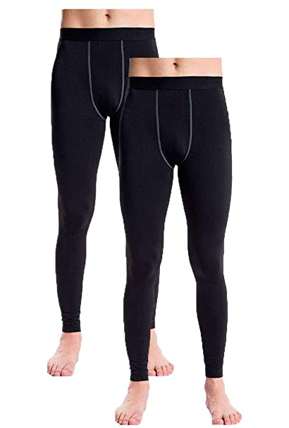 1b663407c6f35 Image Unavailable. Image not available for. Color: Men's Thermal Fleece  Compression Leggings Pants Sports Baselayer ...