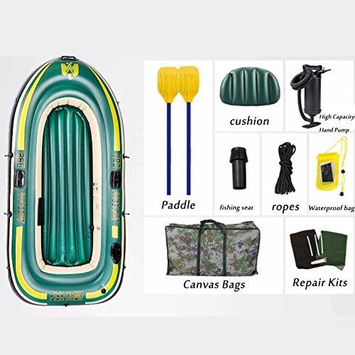 Ngfbcv Inflatable Rubber Boat Thick Wear-Resistant Inflatable Boat Kayak Boat Fishing Boat 2/3/4 Hovercraft,Twoamodels -